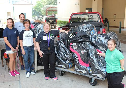 Children S Memorial Hermann Hospital Receives Generous Car Seat Donation From Abby Gift